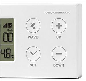 コンパクト デジタル電波時計 110 シンプルボタンで簡単操作