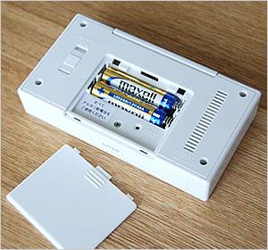 コンパクト デジタル電波時計 110 乾電池2本付属