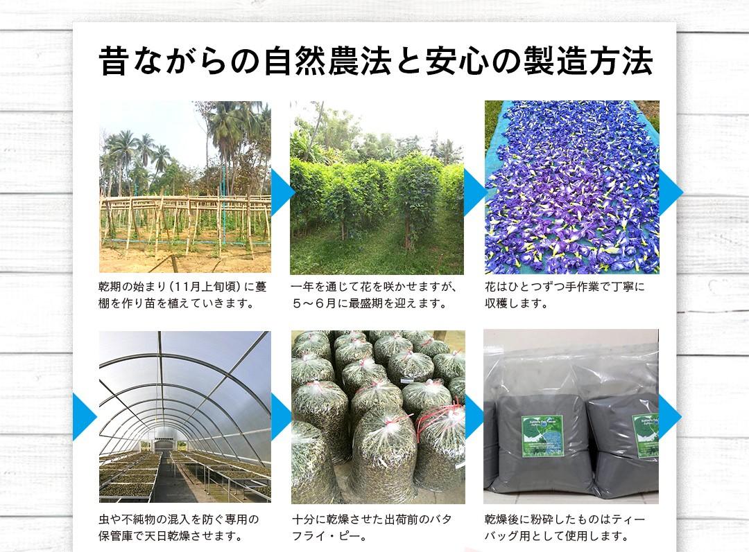 昔ながらの自然農法と安心の製造方法。