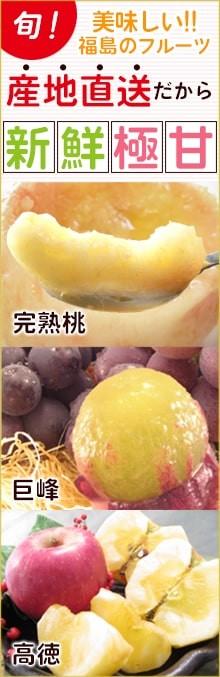 産地直送!だから新鮮!出荷する朝に収穫するから極甘!福島のフルーツをお届けいたします!
