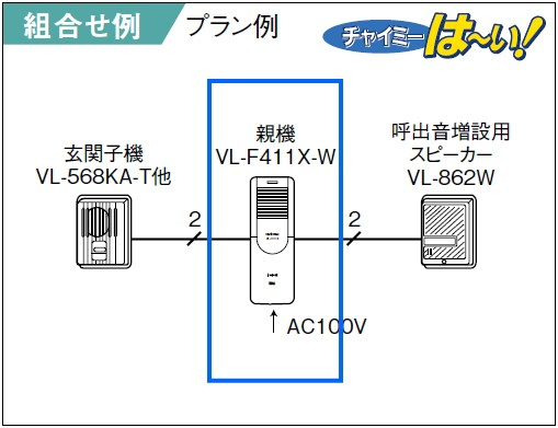 VL-F411X-W システム図