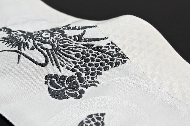 角帯 龍 鱗文 白 オフホワイト 男帯 浴衣帯 :obim91z-d12-3271:きもの ...