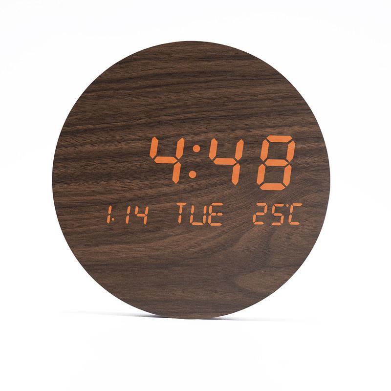 壁掛け時計 置き時計 デジタル電子時計 USB給電 おしゃれ 北欧風 掛け時計 掛時計 壁に掛けるLED夜の光時計 家庭用 soukyoushop 19