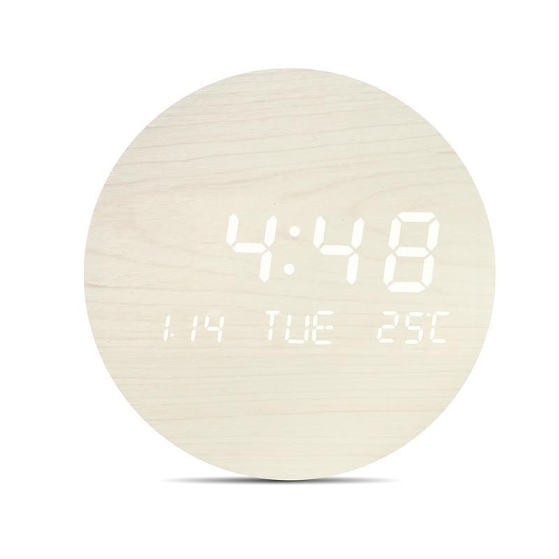 壁掛け時計 置き時計 デジタル電子時計 USB給電 おしゃれ 北欧風 掛け時計 掛時計 壁に掛けるLED夜の光時計 家庭用 soukyoushop 17