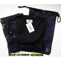 和柄Tシャツ と ハーフパンツ、巾着の3点セット 絡繰魂 金魚刺繍旅のSET UP sousakuzakka-koto 22