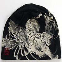 絡繰魂 抜染ワッチCAP 和柄帽子  虎 髑髏|sousakuzakka-koto|13