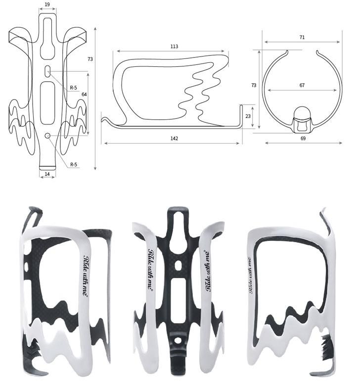 自転車用カーボンボトルケージ