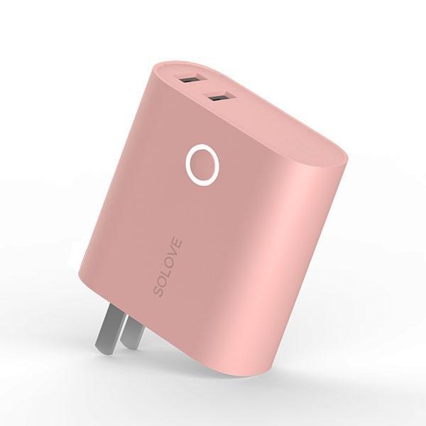 モバイルバッテリー 5000mAh  2ポート 大容量 コンパクト スマホ充電器 急速 iPhone Android 携帯充電器 スマホ 充電器 solove【PSEマーク付】|sp-plus|22