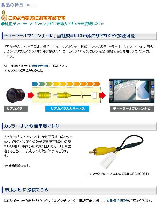 データシステム カメラハーネス カメラ入力ハーネス
