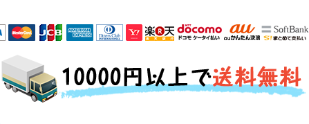 クレジットカードOK,10000円以上で送料無料