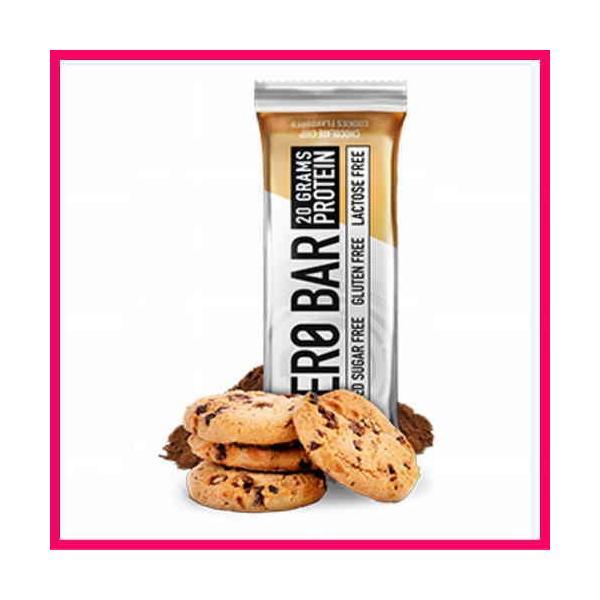 送料無料 プロテインバー 20本1箱 ゼロバー チョコチップクッキー ヘーゼルナッツ カプチーノ ダブルチョコ 1本にプロテイン20g BioTech社 ZERO BER spl 06