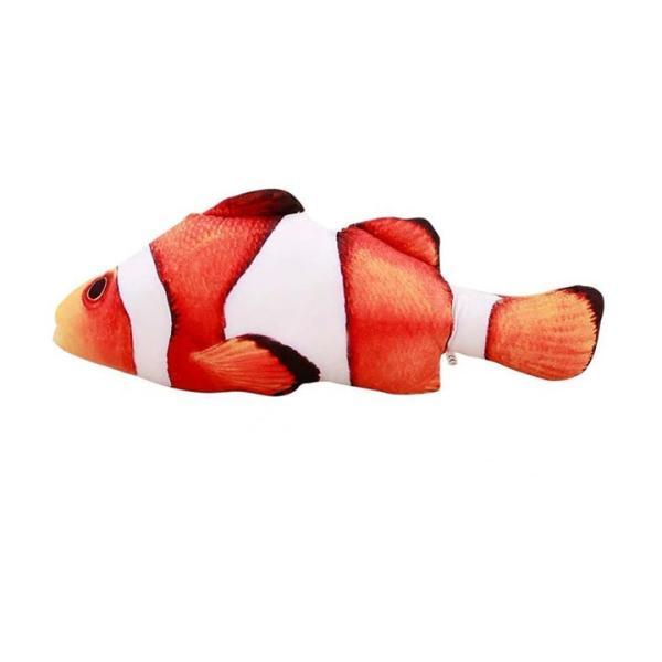 猫おもちゃ 電動魚 ぬいぐるみ またたびおもちゃ 魚おもちゃ USB充電式 抱き枕 魚 ネコ 猫のおもちゃ 運動不足 ストレス解消 爪磨き 噛むおもちゃ sports-wear 10