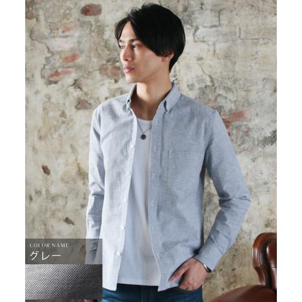 シャツ メンズ カジュアルシャツ メンズ 長袖 人気 オックスフォード ボタンダウンシャツ 予約販売・10月下旬頃発送予定|spu|17