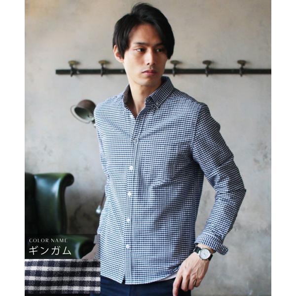 シャツ メンズ カジュアルシャツ メンズ 長袖 人気 オックスフォード ボタンダウンシャツ 予約販売・10月下旬頃発送予定|spu|23