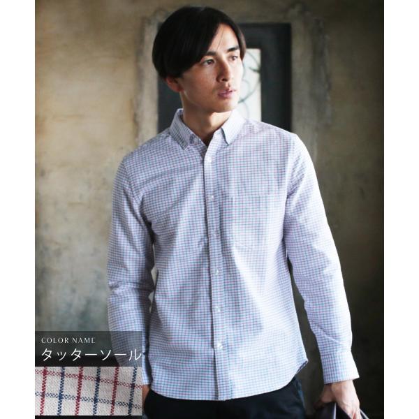 シャツ メンズ カジュアルシャツ メンズ 長袖 人気 オックスフォード ボタンダウンシャツ 予約販売・10月下旬頃発送予定|spu|24