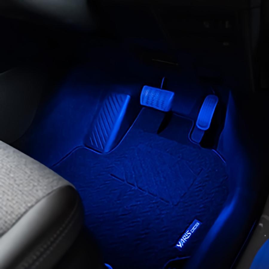 (セット商品)ヤリスクロス 専用設計 LED インナーランプフルセット 手元 足元 コンソール 7pcs インテリア 内装 シェアスタイル|ss-style8|07