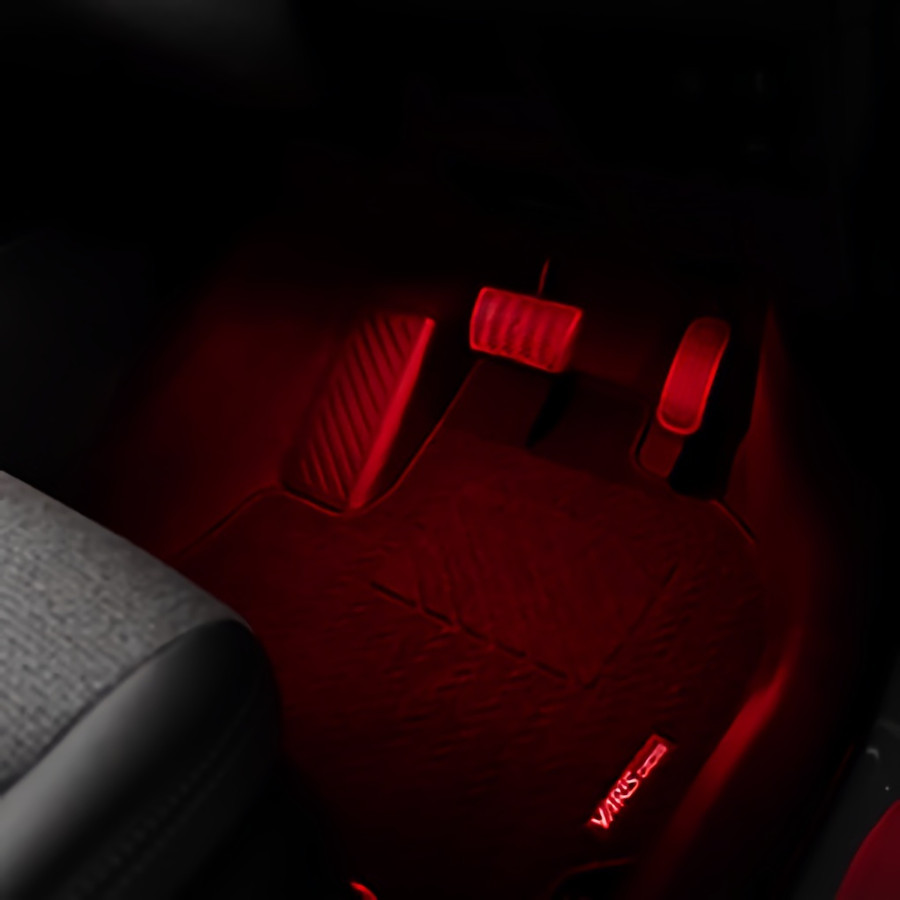 (セット商品)ヤリスクロス 専用設計 LED インナーランプフルセット 手元 足元 コンソール 7pcs インテリア 内装 シェアスタイル|ss-style8|06