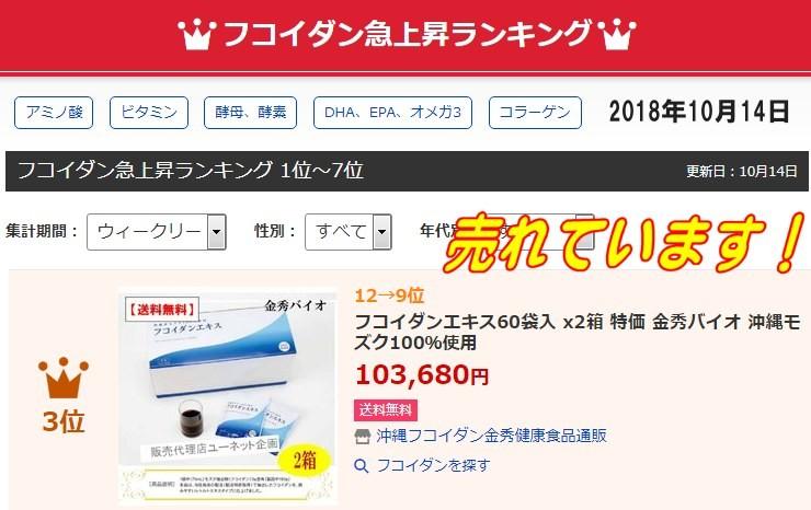 沖縄フコイダン人気売れ筋ランキング