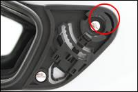 スパルコ ヘルメット CLUB X1 シールド 付け方2