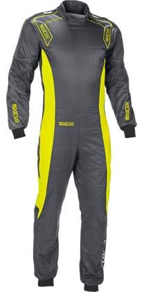 スパルコ レーシングスーツ ERGO7 グレーイエロー