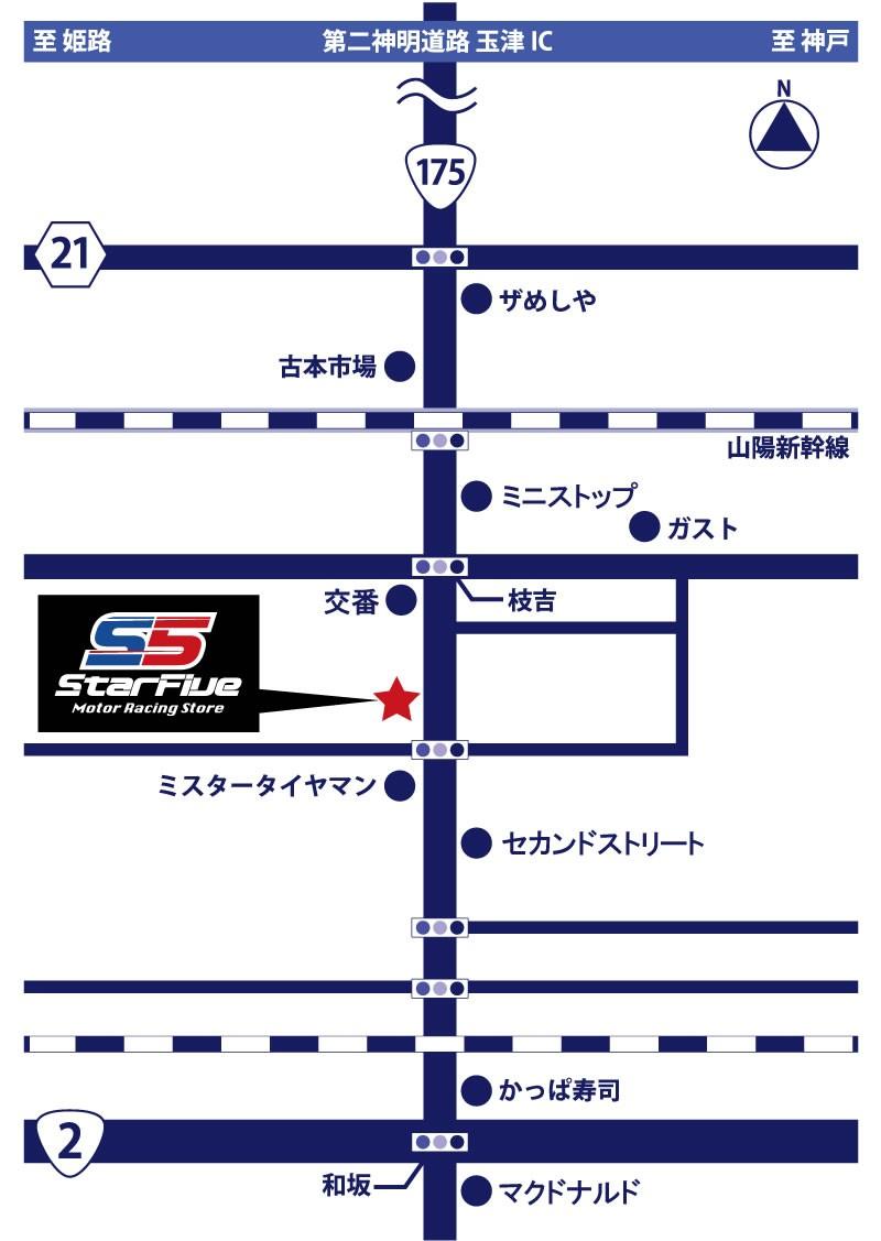スターファイブ 神戸店 マップ 地図 Star5