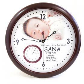 内祝いに赤ちゃんの写真で作る大きな壁掛け時計