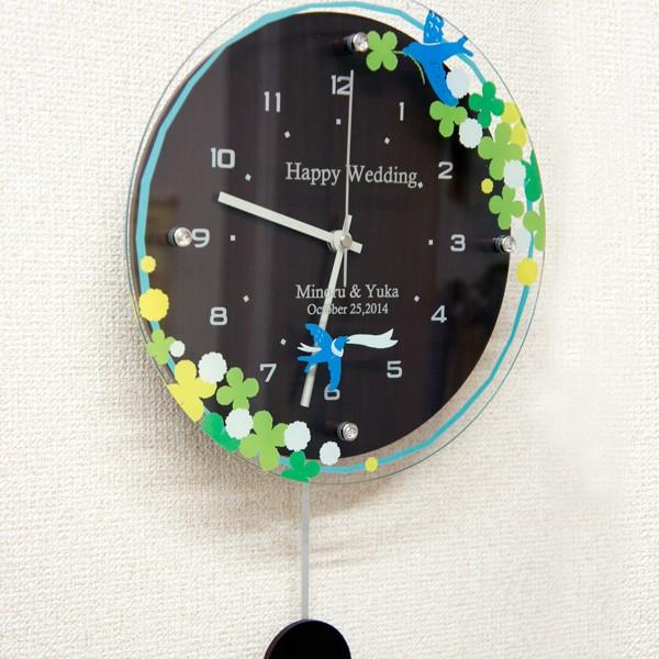 カラフル振り子時計ブラウン