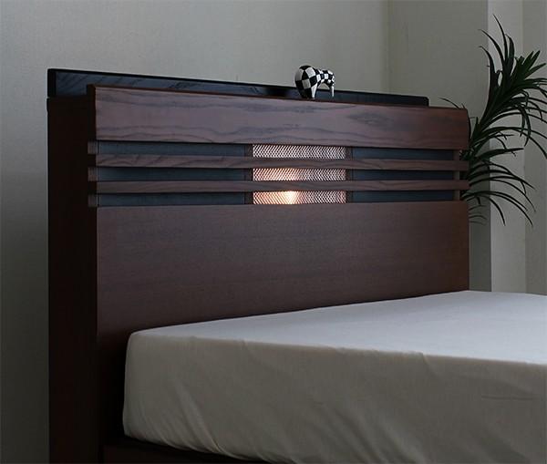 ベッド セミダブル マットレス付き ボンネルコイル 引き出し付き収納