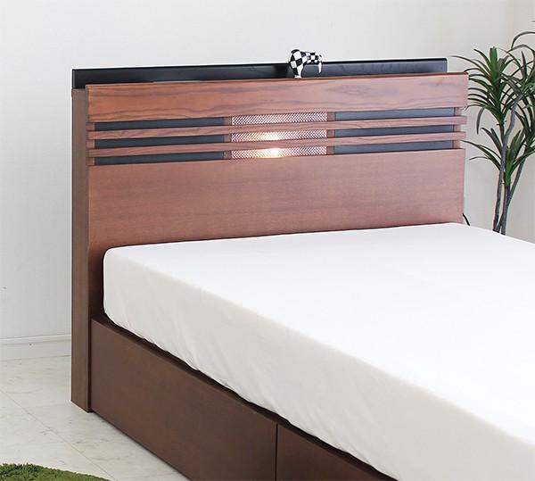 ベッド ダブル マットレス付き ボンネルコイル 引き出し付き収納