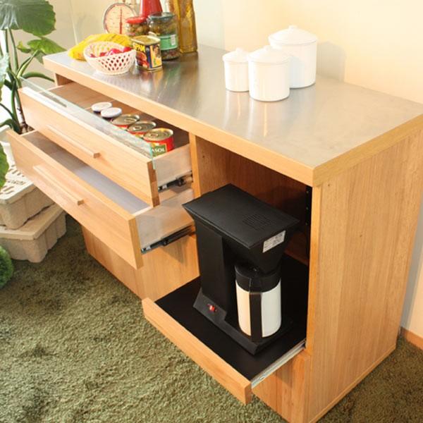 キッチンカウンター レンジ台 完成品 幅120cm 北欧