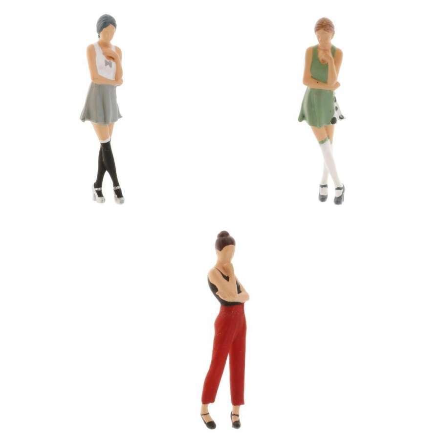 2-4ミニ1:64ジオラマフィギュア思考女性の風景家の装飾|stk-shop|11