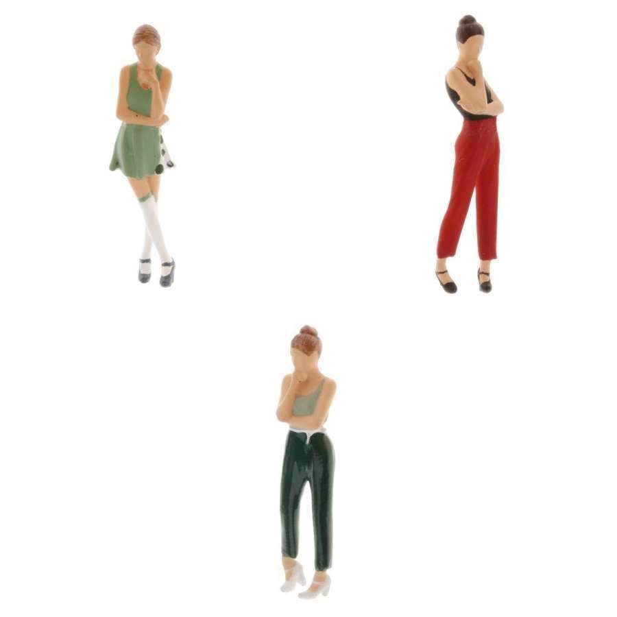 2-4ミニ1:64ジオラマフィギュア思考女性の風景家の装飾|stk-shop|12