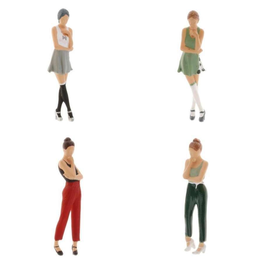 2-4ミニ1:64ジオラマフィギュア思考女性の風景家の装飾|stk-shop|13