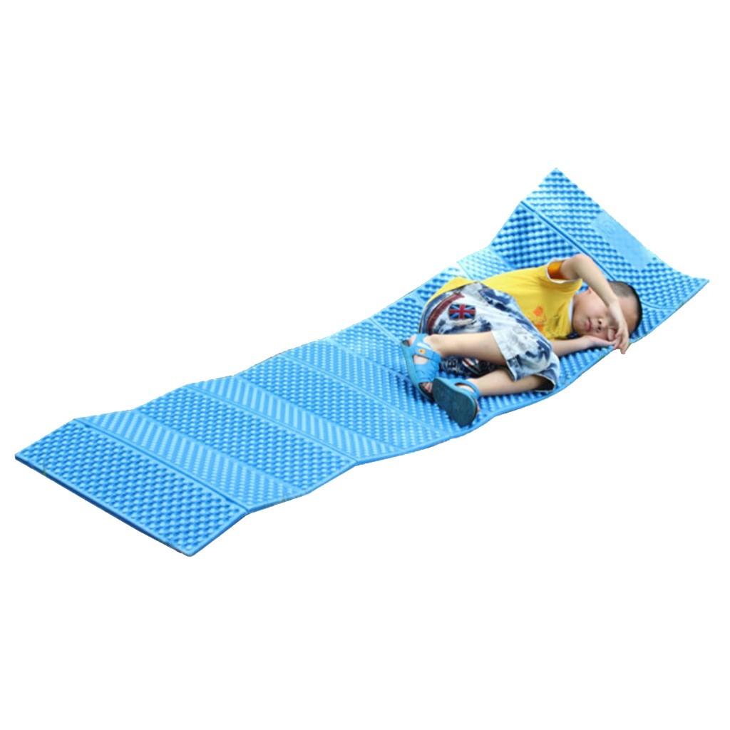ポータブル折りたたみ屋外キャンプマットピクニック睡眠クッションパッドアーミーグリーン