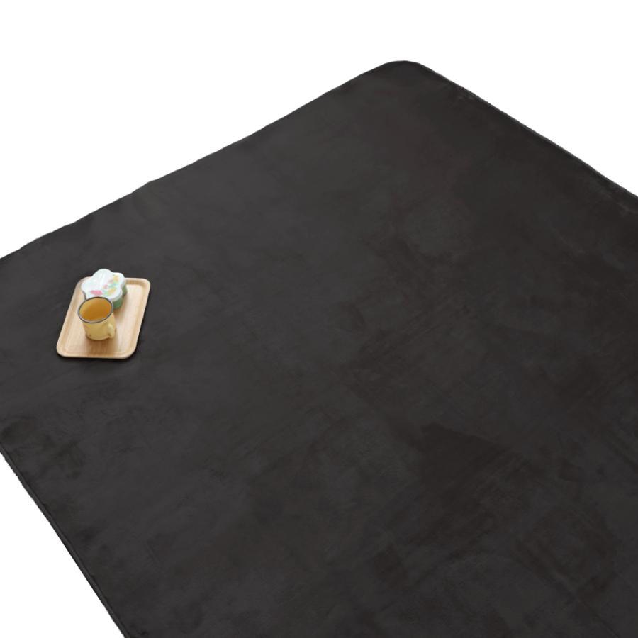 洗える おしゃれ ラグ 抗菌 防臭 防ダニ カーペット 130×185cm 1.5畳 オールシーズン ホットカーペット対応 フランネル ライトキャスト|store-pocket|21