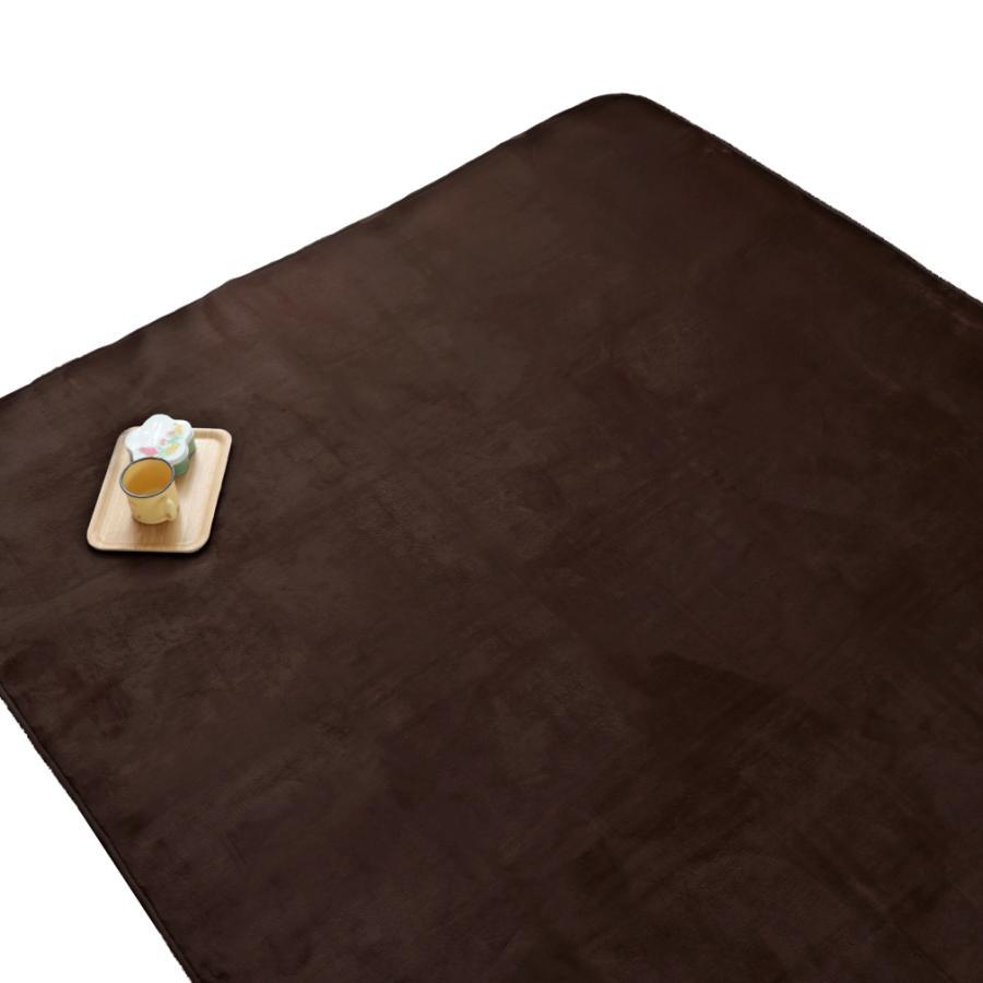 洗える おしゃれ ラグ 抗菌 防臭 防ダニ カーペット 130×185cm 1.5畳 オールシーズン ホットカーペット対応 フランネル ライトキャスト|store-pocket|22
