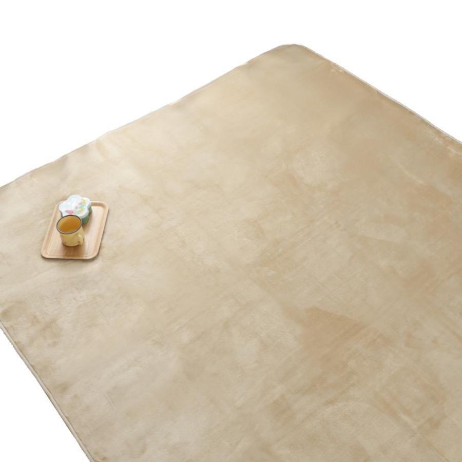 洗える おしゃれ ラグ 抗菌 防臭 防ダニ カーペット 130×185cm 1.5畳 オールシーズン ホットカーペット対応 フランネル ライトキャスト|store-pocket|23