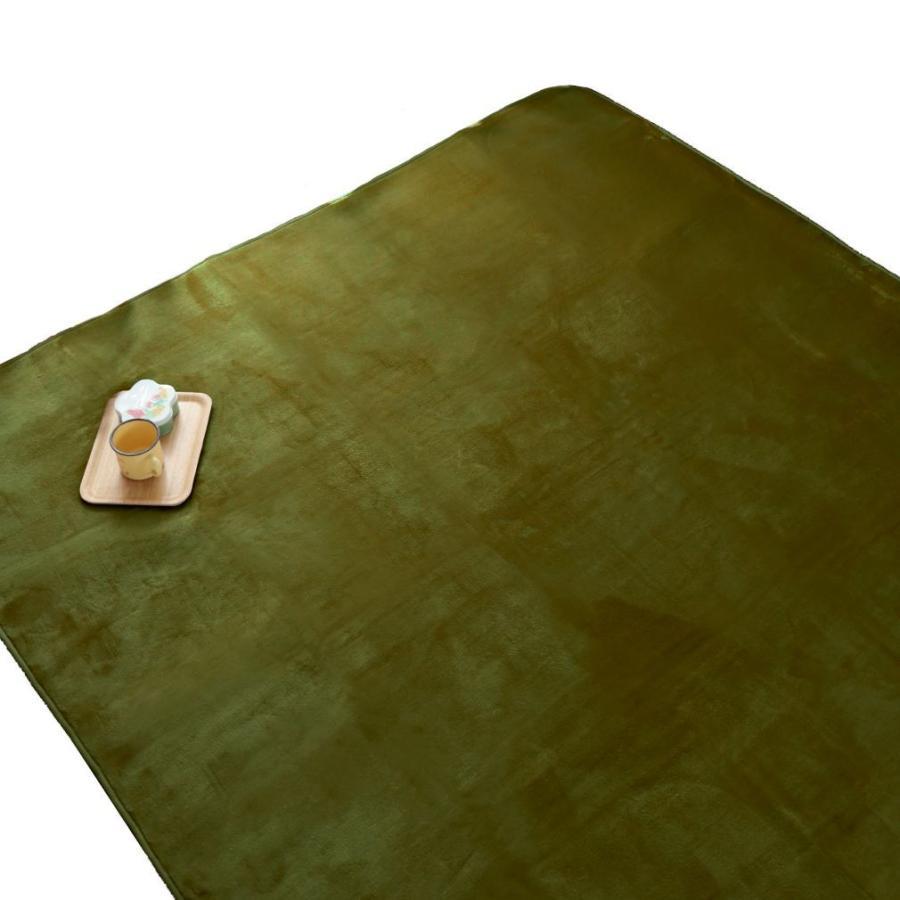洗える おしゃれ ラグ 抗菌 防臭 防ダニ カーペット 130×185cm 1.5畳 オールシーズン ホットカーペット対応 フランネル ライトキャスト|store-pocket|24