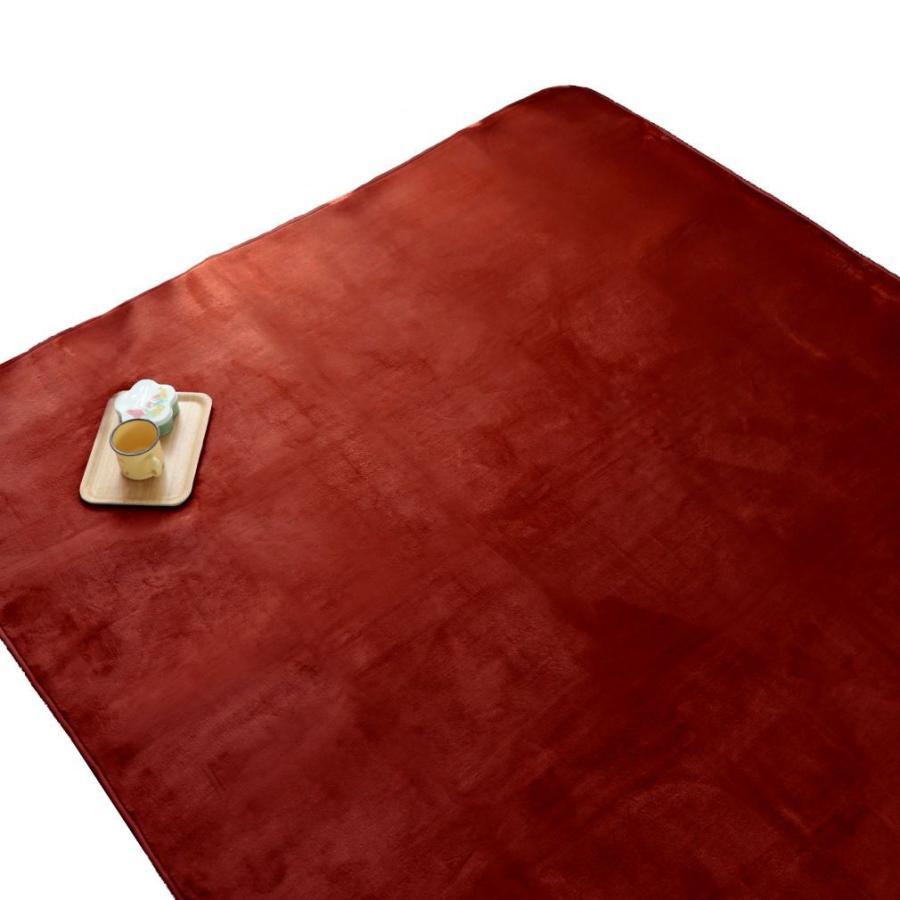 洗える おしゃれ ラグ 抗菌 防臭 防ダニ カーペット 130×185cm 1.5畳 オールシーズン ホットカーペット対応 フランネル ライトキャスト|store-pocket|25