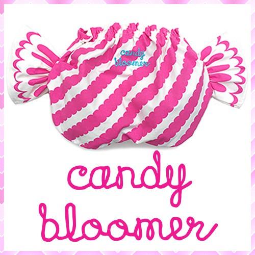 履いた姿がとびきりキュート♪ふりふり歩く姿がかわいいですよ〜♪♪キャンディの包み紙をイメージしたキャンディブルマー
