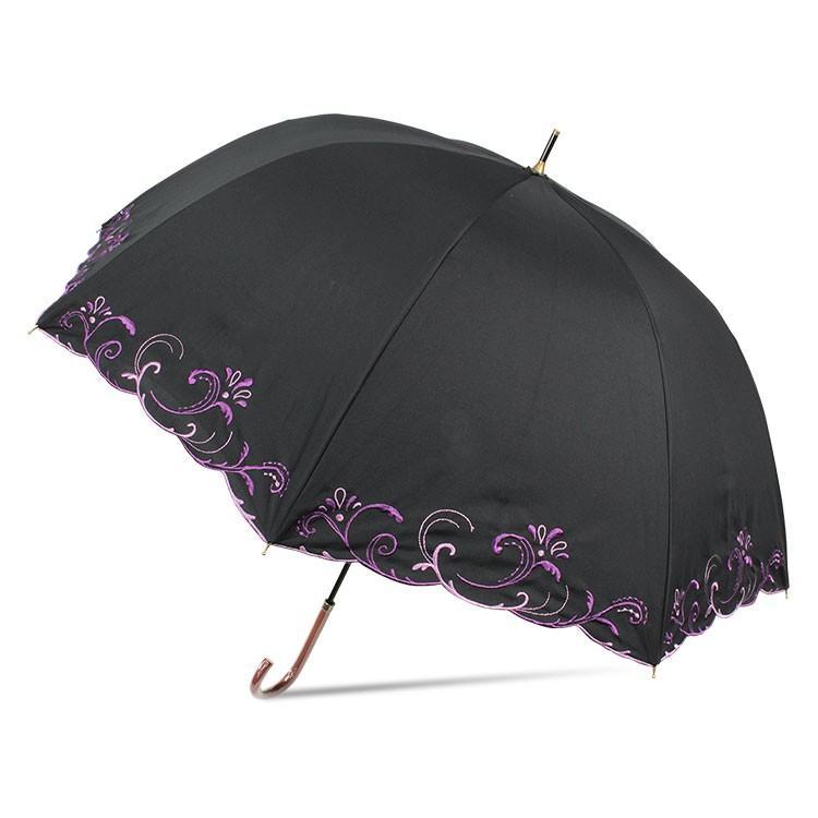 日傘 完全遮光 レディース 長傘 おしゃれ 晴雨兼用 UVカット率99.9%以上 遮光率100% 二重張り|story-web|09