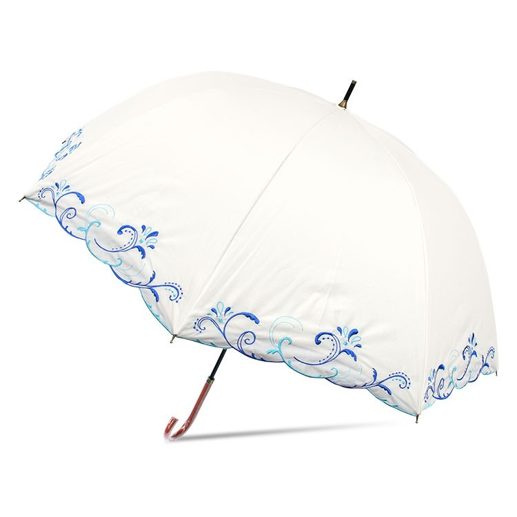 日傘 完全遮光 レディース 長傘 おしゃれ 晴雨兼用 UVカット率99.9%以上 遮光率100% 二重張り|story-web|10