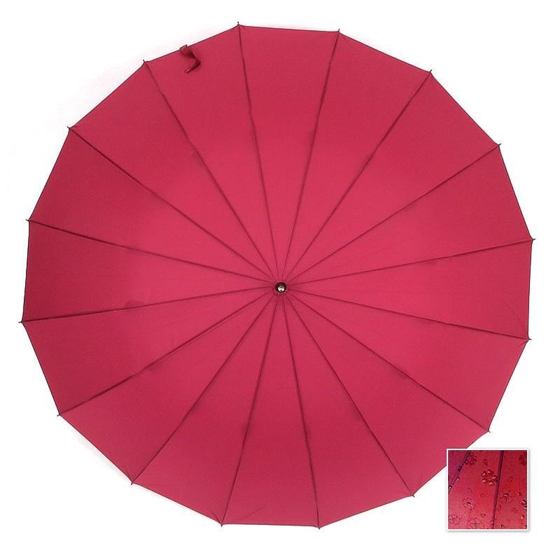 傘 レディース 長傘 ワンタッチ ジャンプ傘 大きめ 16本骨 かさ カサ 雨で桜が浮き出る傘 story-web 16