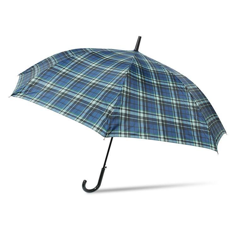 傘 メンズ ワンタッチ グラスファイバー 格子柄 チェック ブラック グリーン|story-web|05