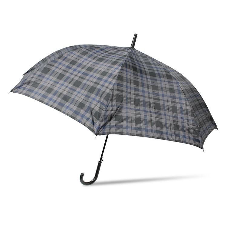 傘 メンズ ワンタッチ グラスファイバー 格子柄 チェック ブラック グリーン|story-web|06