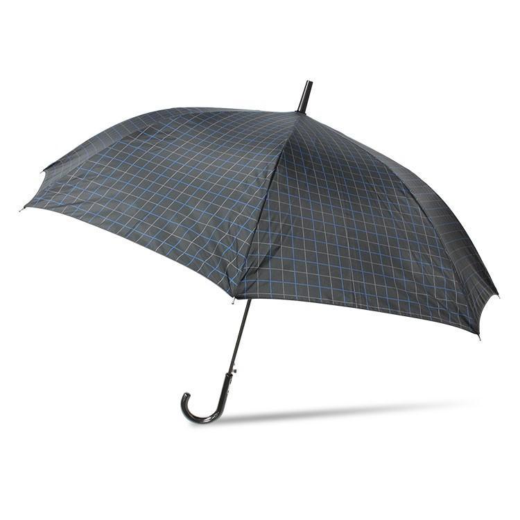 傘 メンズ ワンタッチ グラスファイバー 格子柄 チェック ブラック グリーン|story-web|07