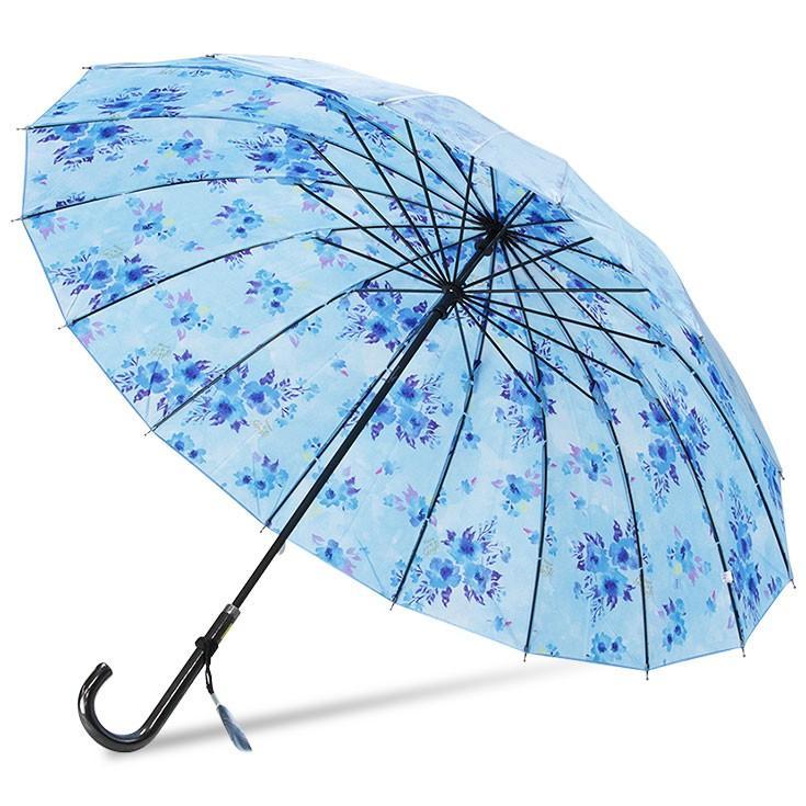 送料無料 傘 レディース 16本骨 長傘 サテン おしゃれ かわいい かさ カサ story-web 10