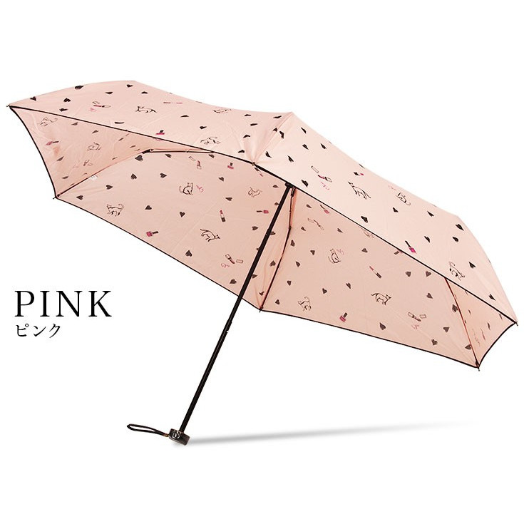 送料無料 折りたたみ傘 レディース 軽量 かわいい グラスファイバー ピコレース 晴雨兼用 story-web 09
