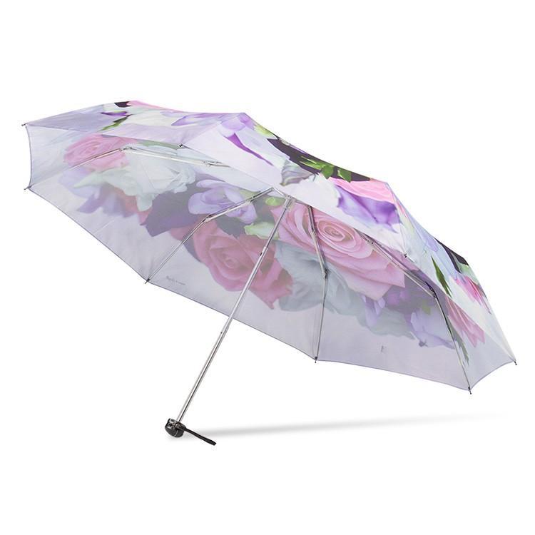 送料無料 折りたたみ傘 レディース 傘 軽量 かわいい グラスファイバー 花柄|story-web|14