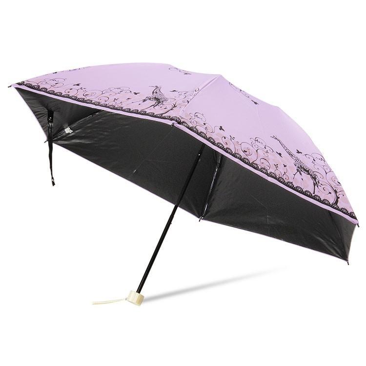 日傘 完全遮光 折りたたみ レディース おしゃれ 晴雨兼用 遮光率100% story-web 24